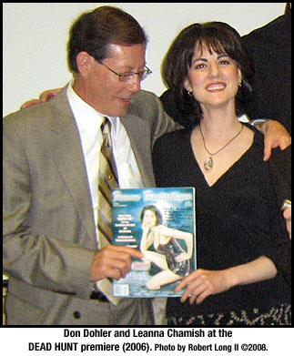 Don Dohler and Leanna Chamish at DEAD HUNT premiere
