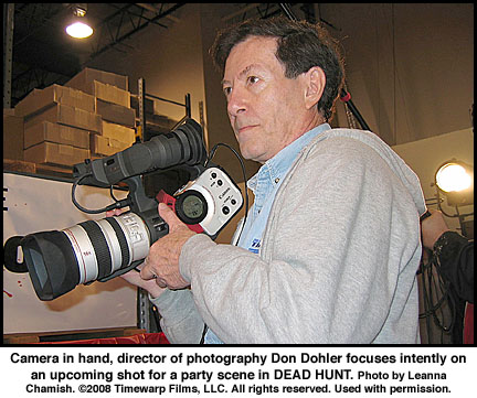 Don Dohler with camera