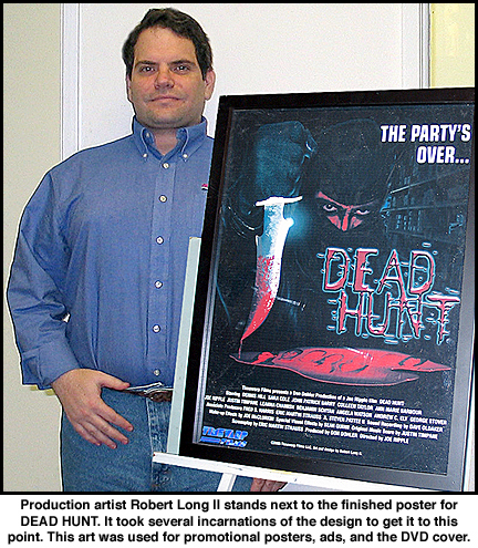 Robert Long II with DEAD HUNT poster