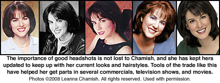 Headshots of Leanna Chamish