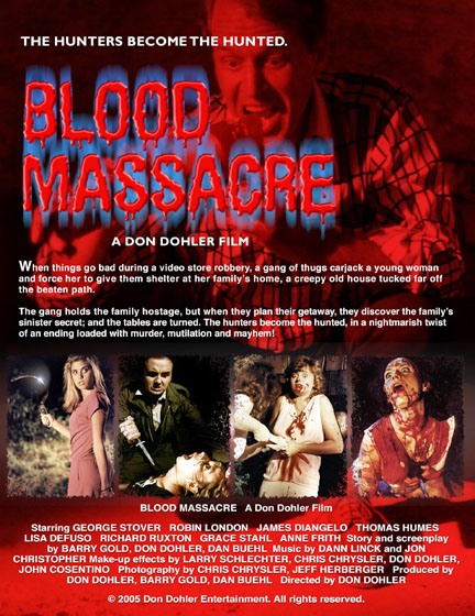 Don Dohler, Robin London, Blood Massacre, George Stover