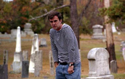 Farley at gravesite