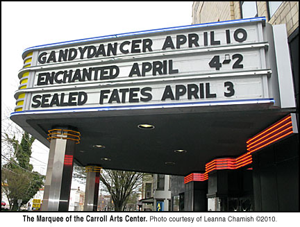 Carroll Arts Center Marquee