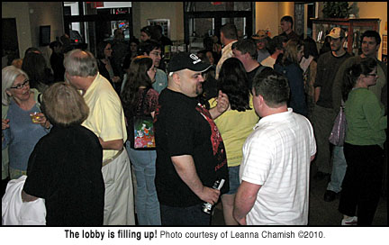 Crowd in the lobby