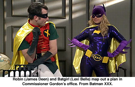 Robin, James Deen, Batgirl, Lexi Belle, Batman XXX