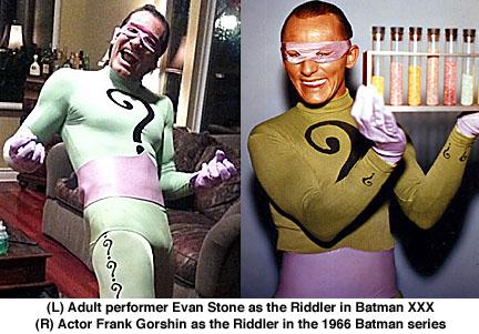 Evan Stone, Frank Gorshin, Batman XXX, 1966 Batman