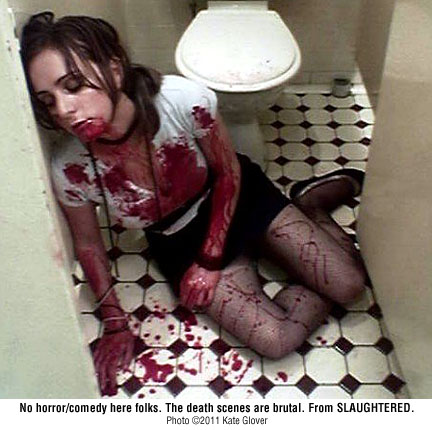 Bathroom murder - SLAUGHTERED