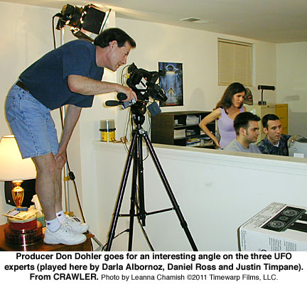 Don Dohler films the UFO experts for CRAWLER