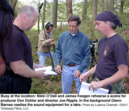 Don Dohler and Joe Ripple on Location for CRAWLER