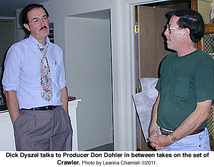 Dick Dyszel and Don Dohler on the set of Crawler