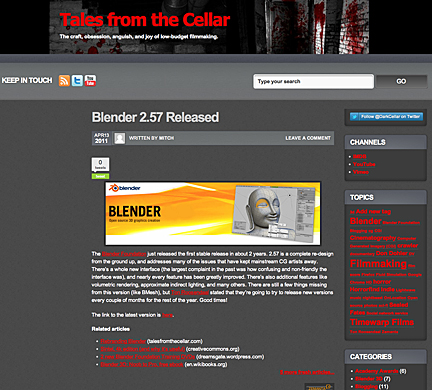 Tales From the Cellar new look