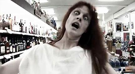 Melvin horror movie liquor store zombie